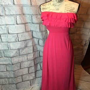 Victoria Secret pink maxi dress with open back